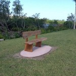 One of the National Bench Programme's benches placed near the Wetlands, Cable Beach.